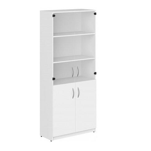 Шкаф под документы с стеклянными фасадами